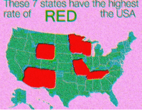 "Reddit, Usa, and Red: hese  7  states  have  the  highest  rate of RED the USA <p>[<a href=""https://www.reddit.com/r/surrealmemes/comments/8ank0o/who_is_the_r_e_d/"">Src</a>]</p>"