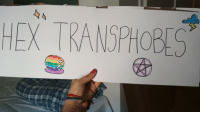 Cool, London, and Today: HEX TRANSPHOBE <p>i went today to london pride it was cool</p>