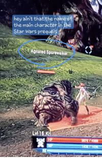 Star Wars, Game, and Star: hey ain't that the name of  the main character in the  Star Wars prequels  Agitated Sporewalker