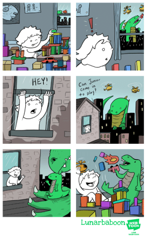omg-images:junior: HEY!  an Junior  Come in  to pla  Lunarbaboon  WEB  TOON  LINE  WEBTOON omg-images:junior
