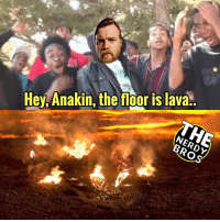Batman, Marvel Comics, and Memes: Hey, Anakin, the floor is lava.. Oh yes we did just go there 😂 - - GeekFaction thenerdybros Trendy Robin wonderwoman flash cyborg superman JusticeLeague Batman thedarkknight nightwing like4like instagood DC marvel comics superhero Fandom marvel detectivecomics warnerbros superheroes theherocentral hero comics avengers starwars justiceleague harrypotter herocentral starwars follow4follow