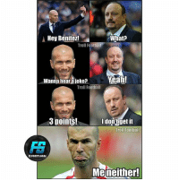 Football, Memes, and Troll: Hey Benitez!  What?  Troll Football  Wanna heara loke? Yeali!  Wanna hear aiokea  Troll Football  3 points!  Idon'tgetit  Troll Football  FOOTY.GOAL  Meneither! Via @footy.goal