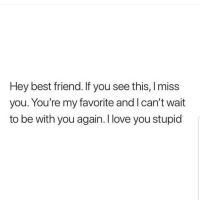 Best Friend, Latinos, and Love: Hey best friend. If you see this, Imiss  you. You're my favorite and I can't wait  to be with you again. I love you stupid Tag bestie 😊😊🤗🤗 🔥 Follow Us 👉 @latinoswithattitude 🔥 latinosbelike latinasbelike latinoproblems mexicansbelike mexican mexicanproblems hispanicsbelike hispanic hispanicproblems latina latinas latino latinos hispanicsbelike