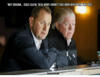 """Live look in on the Flames this road trip... - Shadius: """"HEY BRIAN... CALL GLEN, TELL HIM l DON'T SEE OUR BOYSON THEICE. Live look in on the Flames this road trip... - Shadius"""