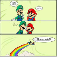 Unless Luigi time, don't grab my 'stache.: Hey Bro!  Grab my  mustache  Humm...Ok...  Mama mia!!! Unless Luigi time, don't grab my 'stache.