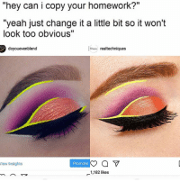 """Yikes this is so ugly of real techniques, tbh I'm tired of big companies stealing artists's hard work .: """"hey can i copy your homework?""""  """"yeah just change it a little bit so it won't  look too obvious""""  doyouevenblend  realtechniques  iew Insights  Promote  1,182 likes Yikes this is so ugly of real techniques, tbh I'm tired of big companies stealing artists's hard work ."""