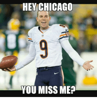 Gould was 101-101 on field goals 31-yards & under. Barth just missed from 31. Credit: Ryan Sullivan: HEY CHICAGO  YOU MISS ME? Gould was 101-101 on field goals 31-yards & under. Barth just missed from 31. Credit: Ryan Sullivan
