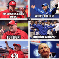 Nfl, Foreigner, and There: HEY COUGHLIN, KNOCK.  KNOCK?  FOREIGN!  WHO'S THERE?!  FOREIGN WHO?!