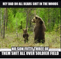 Can any Chicago Bears fan confirm this?: HEY DAD DO ALL BEARSSHITIN THE WOODS  NO SON FIFTY THREE OF  THEM SHITALLOVERSOLDIER FIELD Can any Chicago Bears fan confirm this?
