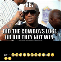 Cowboys Lose: HEY  DID THE COWBOYS LOSE  OR DID THEY NOT WIN  AMICAUNCHCOM