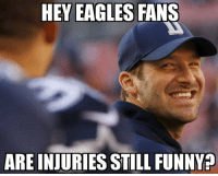 Cowboys fans getting some payback https://t.co/lX3gEqoYbW: HEY EAGLES FANS  ARE INJURIES STILL FUNNY? Cowboys fans getting some payback https://t.co/lX3gEqoYbW