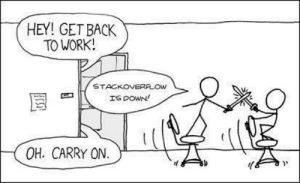 Work, Back, and What: HEY! GET BACK  TO WORK!  STACKOVERALOW  OH. CARRY ON.IL stA Welp, what are we gonna do?