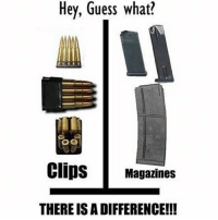 America, Friends, and Memes: Hey, Guess what?  Clips Magazines  THERE IS A DIFFERENCE!!! . ✅ Double tap the pic ✅ Tag your friends ✅ Check link in my bio for badass stuff - usarmy 2ndamendment soldier navyseals gun flag army operator troops tactical armedforces weapon patriot marine usmc veteran veterans usa america merica american coastguard airman usnavy militarylife military airforce tacticalgunners
