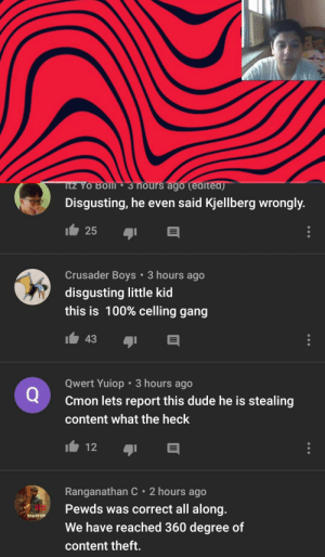 Hey guys, this is straight up bullying at this point. He never even had that many views, and you're all sending hate towards him. It's kind of messed up.: Hey guys, this is straight up bullying at this point. He never even had that many views, and you're all sending hate towards him. It's kind of messed up.