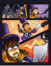 Who, Kid, and You: Hey, Hat Kid,  would you  autograph  A Hi  my fenart  who should  moulse  this out  to?  2  Jkm 2018