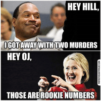 💭 That's amateur hour for Hillary 💭🤔🤔🤔💭 Join Us: @TheFreeThoughtProject 💭 TheFreeThoughtProject 💭 LIKE our Facebook page & Visit our website for more News and Information. Link in Bio... 💭 www.TheFreeThoughtProject.com: HEY HILL,  OGOTAWAY WITH TWO MURDERS  HEY OJ  THOSE AREROOKIE NUMBERS 💭 That's amateur hour for Hillary 💭🤔🤔🤔💭 Join Us: @TheFreeThoughtProject 💭 TheFreeThoughtProject 💭 LIKE our Facebook page & Visit our website for more News and Information. Link in Bio... 💭 www.TheFreeThoughtProject.com