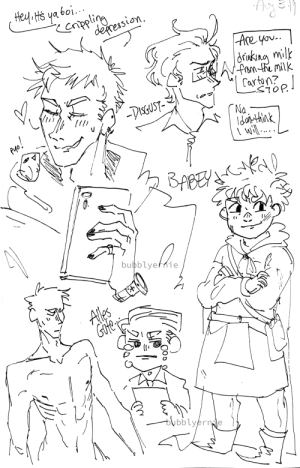 bubblyernie: Sketches of aph prussia art tag // commission info : Hey Hs ya boi.  enpling  deression  |Are yov..  ukng milk  fam te milk  Carton?  -DisGUST-  ГNa.  dothnk  \ wil ...  BABEY  bubblyefnie  Ales  Gfe  bubblyernde bubblyernie: Sketches of aph prussia art tag // commission info