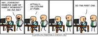 By Rob. It isn't HARD to find good comics. www.explosm.net is full of them! (And boner jokes!): HEY, JOHNSON!!  WORKING HARD OR  HARDLY WORKING??  HA HA HA!!  ACTUALLY  I'M LOOKING  AT PORN.  Cyanide and Happiness Explosm.net  SO THE FIRST ONE. By Rob. It isn't HARD to find good comics. www.explosm.net is full of them! (And boner jokes!)