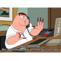http://t.co/KZxRHTTq5o: Hey, La Rhonda  No got four people on hold, but can talke http://t.co/KZxRHTTq5o