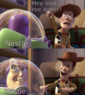 Made you look. by JonathanMU MORE MEMES: Hey look,  free water!  Nestle  Nestle Made you look. by JonathanMU MORE MEMES