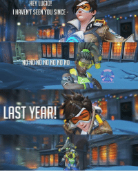 HEY LUCIO!  I HAVENT SEEN YOU SINCE  NONO NO NO NO NO NO  LAST YEAR! Happy New Year ! 🎊🎈🎆 Hope Your 2017 Will be Much Better 💕 كل عام وانتو بخير ، اتمنى انو سنة ٢٠١٧ تكون سنة خير عليكم . 💕 Credit : @tracer_festiveboi • Tags : Overwatch overwatchgame overwatchcosplay overwatchmemes overwatchhanzo hanzo genji Ana tracer reaper team_kill overwatchplays overwatchmeme play gamer gamer_girl player funny meme
