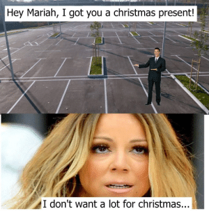 Christmas, Dank, and Memes: Hey Mariah, I got you a christmas present!  I don't want a lot for christmas... Me irl by Leanflare MORE MEMES