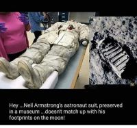 Fake Moon landing , Global Warming , Vaccines , Fluoride , EMF , Geo-Engineering so much info coming out this year we live in exciting times!!: Hey ...Neil Armstrong's astronaut suit, preserved  in a museum ...doesn't match up with his  footprints on the moon! Fake Moon landing , Global Warming , Vaccines , Fluoride , EMF , Geo-Engineering so much info coming out this year we live in exciting times!!