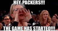 Where you at Green Bay Packers???: HEY PACKERS!!!  THE GAME HAS STARTED!!! Where you at Green Bay Packers???