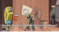Cartoon-memes: Hey Pal Did you just blow in from stupid town?