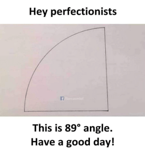 have-a-good-day: Hey perfectionists  f/Sarcasmlol  This is 89° angle.  Have a good day!