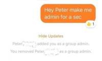 Julius Caesar, Roman, and Sec: Hey Peter make me  admin for a sec  1  Hide Updates  Peter  You removed Peter,  added you as a group admin.  as a group admin Roman Emperor Julius Caesar is Overthrown (44BC) - COLORISED