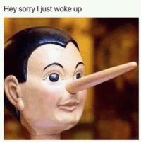 Funny, Lol, and Sorry: Hey sorry I just woke up Tag this friend lol