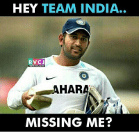 For sure rvcjinsta: HEY TEAM INDIA.  RVC J  MISSING ME? For sure rvcjinsta