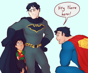tuffart:  dick suddenly got shy when meeting his favourite hero ♥ having the worst week health-wise so i drew some cute to try and keep me out of the hospital lol : Hey there  hero! tuffart:  dick suddenly got shy when meeting his favourite hero ♥ having the worst week health-wise so i drew some cute to try and keep me out of the hospital lol