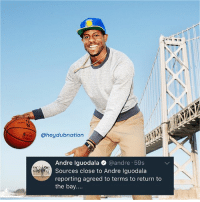 Agent 009 successfully infiltrated SAC, HOU & SAS and procured intel on their future plans. He's coming back home and reporting his findings 😂 WelcomeBack @andre!!! 🏆🏆: @heydubnation  Andre Iguodala @andre 59s  Sources close to Andre Iguodala  reporting agreed to terms to return to  the bay.... Agent 009 successfully infiltrated SAC, HOU & SAS and procured intel on their future plans. He's coming back home and reporting his findings 😂 WelcomeBack @andre!!! 🏆🏆