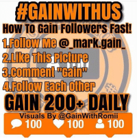 "HGAINW THUS  HOW TO Gain Followers Fast!  Me@ mark gain  ARollow Each other  Visuals By @GainWithRomii  100 100  100 Follow Steps Below⤵ - 1.Follow Me @ForeverGainTrain @_mark.gain_ @lovveari 2.Like This Pic ❤ 3.Comment ""Gain"" To GainWithUs 4.Follow Likers and Commenters 5.Unfollow Who Don't Follow Back - Also Follow The CEO 👑 @forevergaintrain - GainAllDay DccFollowTrain CashFollowGame JayFollowGame LucyFollowGame GainWithUs CashFollowGang VipGainTrain CashFollowTrain Figure8GainTrain LFL Christmasfollowtrain IFB FollowTrain GainTrick GainPost JayGainPlane CashFollowBoost Part1FollowTrain Recent4Recent LetsAllGainTrain R4R Spam4Spam JayFollowboost FollowParty TysFollowTrain SpamForSpam -⬇- Comment ""Gain"" 💬 if you follow"