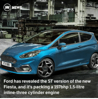 "Memes, Tablet, and Twins: HH NEW  Ford has revealed the ST version of the new  Fiesta, and it's packing a 197bhp 1.5-litre  inline-three cylinder engine Via @carthrottlenews - Let's get the big piece of news out of the way: As was first rumoured a little while ago, the ST has indeed dropped a cylinder and a little bit of displacement, switching to a 1.5-litre three-pot. - It's presumably derived from the existing 1.5-litre Ecoboost unit, although Ford describes it as an ""all-new"" engine. It's been given a new turbocharger with an ""optimised"" turbine design to reduce lag, plus ""Twin-independent Variable Cam Timing. It's good for 197bhp, and 214lb ft of torque. - Both of those figures are the same as what the outgoing car achieved when its 'overboost' function kicked in. The new car will do 0-62mph in an ""anticipated' 6.7 seconds, although there's no word on top speed just yet. There isn't an MPG figure available right now either, but Ford is expecting CO2 emissions of around 114g-km. - The car gets a torque vectoring by braking system just like the old one, plus three driving modes. The 'Normal', 'Sport' and 'Track' modes each alter the steering, throttle response and traction-stability controls to varying degrees. Stick it in 'Track' mode and the traction control goes entirely, with the ESP set to 'wide slip' mode. Or if you'd prefer, you can switch off ESP completely. - On the inside it's a sportified version of the Fiesta cabin we've already seen, which means a far plusher space than we've been used to seeing from Ford's ubiquitous supermini. - The 'Sync 3' system is present on a floating tablet-style setup, which should prove to be much less frustrating than the clunky old infotainment, and keeping your back and buttocks very happy will be a pair of Recaro bucket seats. - In the cabin you'll also be - I'm afraid to say - treated to some 'Electronic Sound Enhancement', but this does at least work in tandem with an active exhaust valve. - Want one? You'll be waiting for a little while I'm afraid, with Ford gunning for an early 2018 launch for the car in both three and five-door forms. The outgoing ST was - and probably still is - pound-for-pound the best new performance car around, so this new one should be worth the wait."