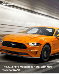 "Digital Dash, Memes, and Pressure: HH NEW  The 2018 Ford Mustang ls Here, With New  Tech But No V6 Via @carthrottlenews - We've had a little time to get used to the sixth-gen Mustang's new look thanks to a leak earlier today, but now Ford has given the refreshed pony its full reveal. - So, what's new? Quite a lot, it turns out. For starters there's the redesigned front end that's already the talk of the Internet, plus the new hood scoops, rear light bars and rear wing. But the changes are more than skin deep, with Ford festooning the Mustang with a lot more tech than it had previously. - We've always found the Mustang's suspension to be lacking finesse, but that's now been addressed with 'MagnaRide' adaptive dampers, available with the Performance Pack. Next up on the menu is the optional active exhaust, which will let you decide exactly how shouty the GT version's 5.0-litre V8 is. - In the cabin meanwhile, you'll find that the old physical dials are gone. They're replaced with an all-new digital dash centred around 12-inch LCD screen. - In addition to the optional adaptive dampers, all models get new shock absorbers, a new cross-axis joint at the rear and new stabiliser bars. According to Ford, all that should ""bring sharper response and handling."" - In terms of engine line-up, the big news is that the 3.7-litre V6 is no more. The range now consists of only the 2.3-litre Ecoboost and 5.0-litre V8 GT, with the latter engine receiving a few tweaks. It revs higher and is more powerful (although Ford hasn't said by how much) thanks to a new high-pressure fuel injection system. - If you found the pre-facelift car's colour pallette a little lacking, we have good news. The facelift brings the choice of more colours, plus 12 different wheel designs. Lovely. - Finally, the last big change for the Mustang is the new optional 10-speed automatic gearbox. It's available on both the Ecoboost and GT, and comes with a set of steering wheel-mounted paddles. - The refreshed Mustang will be on sale in North America this autumn, arriving in Europe some time after."
