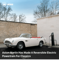 "Cars, Martin, and News: HH) NEWS  Aston Martin Has Made A Reversible Electric  Powertrain For Classics Gaydon's ""cassette"" powertrain sits on the original engine mountings of this all-electric DB6"