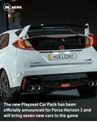 Honda, Memes, and Aston Martin: HH NEWS  E HORIZON  The new Playseat Car Pack has been  officially announced for Forza Horizon 3 and  will bring seven new cars to the game Via @carthrottlenews - 7 February will bring seven cool cars to the open world of Forza Horizon 3 as part of the new Playseat Car Pack. - There's a fascinating range of new cars in the pack, and all will be compatible with the recent Blizzard Mountain expansion for FH3. - The Playseat Car Pack is available for separate purchase or part of the FH3 Ultimate edition. There's a diverse mix of automotive machinery in the pack, starting with the iconic HDT VK Commodore Group A. - The Renault Alpine GTA Le Mans is also in the new FH3 pack, while bringing things back to modern times, there's the meaty Cadillac ATS-V and Vauxhall Corsa VXR for some hot hatch fun. - Undoubtedly one of the big draws is the inclusion of the stunning new Aston Martin DB11, which looks downright insane in the screenshots released by Forza. - Rounding things up are a contrasting duo from Honda, firstly the S800 from 1970 and then the Honda Type R. - So, as you can see, there's a real range of cars in the Playseat Car Pack and that makes it pretty tempting. - Plus, can you imagine how cool it'll look in the game, cruising along in your stunning DB11? Mega. - Which tempts you the most?