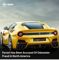 America, Ferrari, and Memes: HH) NEWS  Ferrari Has Been Accused Of Odometer  Fraud In North America Via @carthrottlenews - An angry former Ferrari salesman is suing Ferrari for unfair dismissal, claiming that he was fired for reporting alleged odometer tampering in its US dealerships