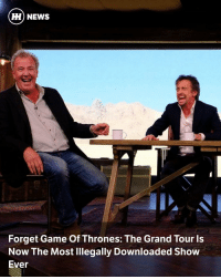 "Amazon, Amazon Prime, and Cars: HH NEWS  Forget Game Of Thrones: The Grand Tour ls  Now The Most Illegally Downloaded Show  Ever Via @carthrottlenews - Whatever the actual figure Amazon paid to put together the first series of The Grand Tour, it's almost certainly huge. With that in mind, the company is no doubt rather keen to get a good return on its investment in the form of people coughing up the £79 annual charge for Amazon Prime membership. - Predictably though, online piracy is making a sizeable dent in Amazon's ROT, and perhaps an even bigger one than anticipated. - According to figures obtained from analytics firm MUSO by Mail Online, Amazon lost a potential £3.2 million in revenue in the UK alone, just for the first episode. MUSO reckons the first episode was pirated 7.9 million times, while the second one clocked 6.4 million illegal downloads-streams. - Chris Elkins, chief commercial officer of MUSO, told Mail Online: ""It is the most illegally downloaded programme ever…It has overtaken every big show, including Game Of Thrones, for the totals across different platforms."" Cripes. - What we can't know is how these colossal figures shape up to the legitimate viewing figures. Amazon Prime does not reveal audience figures as a rule, and isn't breaking that rule for TGT. - It did reveal however that Clarkson, Hammond and May's new car show had the highest viewing figures for a debut show on the platform, beating previous record holder The Man In The High Castle."