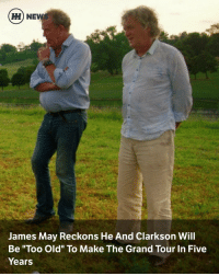 """Cars, James May, and Jeremy Clarkson: HH NEWS  James May Reckons He And Clarkson Will  Be """"Too Old"""" To Make The Grand Tour In Five  Years Via @carthrottlenews - Any Top Gear-Grand Tour fan must have had this thought in the back of their head at some point: how long can the trio realistically continue? Will Jeremy Clarkson, Richard Hammond and James May still be making car films in 10 years or more? Perhaps not, judging by recent comments from May. - Speaking to the Radio Times, the 53-year-old said: """"We have to accept that fairly soon we will be too old for it. Richard Hammond is a reasonably fit bloke who looks after himself, me and Jeremy aren't. - He added: """"Jeremy is particularly decrepit and I find growing within me…a much stronger, nesty sort of instinct. Within the next five years I don't want to be fart-arsing around."""" - Given the demands of filming around the world and the """"fart-arsing around"""" May speaks of, you'd have to say fair enough to that. At 46 Richard Hammond is 10 years younger than the eldest of the trio - Clarkson - and as May alluded, not quite so unfit and """"decrepit"""". - So, if Clarkson and May did 'retire' in five year's time, would that effectively end The Grand Tour? Could it still continue with Hammond and a pair of replacements for the other two? There is of course the possibility that the elder pair would continue to create studio-based segments, leaving Hammond and perhaps a couple others (Rory Reid and Chris Harris poached from Top Gear, perhaps?) to be sent out to do the more intensive stuff. - Or perhaps the duo will continue for many years more, rendering all that extreme speculation pointless. What do you think?"""