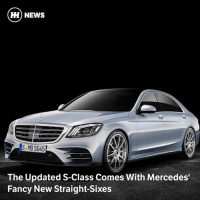 Memes, Mercedes, and News: HH NEWS  MB5045  The Updated S-Class Comes With Mercedes'  Fancy New Straight-Sixes Via @carthrottlenews - New straight-sixes and a 4.0-litre V8 AMG engine confirmed for the refreshed S-Class, which is making its public debut at the Shanghai Motor Show.