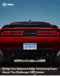 "Via @carthrottlenews - The Dodge SRT Demon will let owners customise its capabilities for the drag strip or the street, according to the latest announcement in the company's countdown to launch day. - A new video, titled 'Crate', has been launched along with a few more cryptic clues as to the Demon's genetic makeup. - The Demon Crate, says Dodge, clearly enjoying its own theatrics, contains 18 components that ""maximise the Challenger SRT Demon's flexibility, exclusivity and future collectability."" Wheels and tyres are going to be included. - In the same press release, the company says: - ""Twenty-two days into the pre-launch campaign, the general consensus seems to be that the Challenger SRT Demon is a single-seat, gutted-out, purpose-built drag car. But this week's teaser video starts to bring the Challenger SRT Demon's true mission more clearly into focus. ""The Challenger SRT Demon provides a platform from which each customer can design their own ultimate ""Street-Strip"" muscle car. It's not intended for a road course; rather, each customer can decide at the time of order, or once they own the car, or even on a moment's notice that they want their car to favor (sic) street performance, drag strip performance or something in between."" - That seems to suggest that as well as buyers specifying custom parts during the ordering process or buying them from an aftermarket catalogue, there will also be some measure of on-the-fly adjustment inside the car itself. We're (obviously) looking forward to learning more.: HH) NEWS  MICHIGAN  #2576@35  Dodge Has Released More Tantalising Clues  About The Challenger SRT Demon Via @carthrottlenews - The Dodge SRT Demon will let owners customise its capabilities for the drag strip or the street, according to the latest announcement in the company's countdown to launch day. - A new video, titled 'Crate', has been launched along with a few more cryptic clues as to the Demon's genetic makeup. - The Demon Crate, says Dodge, clearly enjoying its own theatrics, contains 18 components that ""maximise the Challenger SRT Demon's flexibility, exclusivity and future collectability."" Wheels and tyres are going to be included. - In the same press release, the company says: - ""Twenty-two days into the pre-launch campaign, the general consensus seems to be that the Challenger SRT Demon is a single-seat, gutted-out, purpose-built drag car. But this week's teaser video starts to bring the Challenger SRT Demon's true mission more clearly into focus. ""The Challenger SRT Demon provides a platform from which each customer can design their own ultimate ""Street-Strip"" muscle car. It's not intended for a road course; rather, each customer can decide at the time of order, or once they own the car, or even on a moment's notice that they want their car to favor (sic) street performance, drag strip performance or something in between."" - That seems to suggest that as well as buyers specifying custom parts during the ordering process or buying them from an aftermarket catalogue, there will also be some measure of on-the-fly adjustment inside the car itself. We're (obviously) looking forward to learning more."