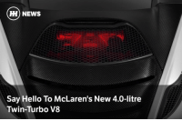 "Via @carthrottlenews - As the reveal of McLaren's new 'P14' supercar (you know, the car we've already seen thanks to a leak) draws closer, Woking has given us some tantalising details about its V8 heart. - It's a new 4.0-litre, twin-turbo unit, dubbed M840T. While McLaren hasn't given a power figure, the firm does mention that it'll haul the 650S replacement from 0-124mph in 7.8 seconds. That's not just 0.6sec quicker than the outgoing car - it's also 0.1sec quicker than the 675LT. Oh, and it'll do a standing quarter-mile in 10.3 seconds. Crikey. - The M840T also gets a pair of ""ultra-low inertia"" twin-scroll turbochargers to kill lag and speed up throttle response, and the top of the unit will be illuminated when the car is unlocked. It should sound better than the old 3.8 too, with McLaren telling us to expect a ""soulful, clean and crisp exhaust note"". In other words, it'll probably be worth dropping the windows down when you go through a tunnel. - The car will be revealed in full at the Geneva Motor Show on 7 March.: HH NEWS  Say Hello To McLaren's New 4.0-litre  Twin-Turbo V8 Via @carthrottlenews - As the reveal of McLaren's new 'P14' supercar (you know, the car we've already seen thanks to a leak) draws closer, Woking has given us some tantalising details about its V8 heart. - It's a new 4.0-litre, twin-turbo unit, dubbed M840T. While McLaren hasn't given a power figure, the firm does mention that it'll haul the 650S replacement from 0-124mph in 7.8 seconds. That's not just 0.6sec quicker than the outgoing car - it's also 0.1sec quicker than the 675LT. Oh, and it'll do a standing quarter-mile in 10.3 seconds. Crikey. - The M840T also gets a pair of ""ultra-low inertia"" twin-scroll turbochargers to kill lag and speed up throttle response, and the top of the unit will be illuminated when the car is unlocked. It should sound better than the old 3.8 too, with McLaren telling us to expect a ""soulful, clean and crisp exhaust note"". In other words, it'll probably be worth dropping the windows down when you go through a tunnel. - The car will be revealed in full at the Geneva Motor Show on 7 March."