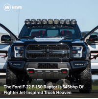 Via @carthrottlenews - It looks like it's been fitted-out for a part in an early 1990s action drama, but this uniquely modified F-150 is actually Ford's latest cash-raising project for an aviation charity: HH) NEWS  The Ford F-22 F-150 Raptor Is 545bhp Of  Fighter Jet-Inspired Truck Heaven Via @carthrottlenews - It looks like it's been fitted-out for a part in an early 1990s action drama, but this uniquely modified F-150 is actually Ford's latest cash-raising project for an aviation charity