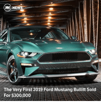 Via @carthrottlenews - At auction Mustang Bullitt Vin 001 sold for nearly the same price as nine Mustang GTs, with all proceeds going to charity: HH NEWS  The Very First 2019 Ford Mustang Bullitt Sold  For $300,000 Via @carthrottlenews - At auction Mustang Bullitt Vin 001 sold for nearly the same price as nine Mustang GTs, with all proceeds going to charity