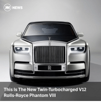 Via @carthrottlenews - An all-new aluminium spaceframe and an all-new twin-turbocharged, 6.75-litre V12 unit. And oodles of luxury. This is the eighth-generation Phantom: HH) NEWS  This Is The New Twin-Turbocharged V12  Rolls-Royce Phantom VIII Via @carthrottlenews - An all-new aluminium spaceframe and an all-new twin-turbocharged, 6.75-litre V12 unit. And oodles of luxury. This is the eighth-generation Phantom
