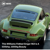 Memes, News, and Porsche: HH) NEWS  This Williams-Fettled Singer 964 ls A  500bhp, 1000kg Beauty Via @carthrottlenews - The first car from Singer's collaboration with Williams Advanced Engineering is here, and it's Porsche perfection